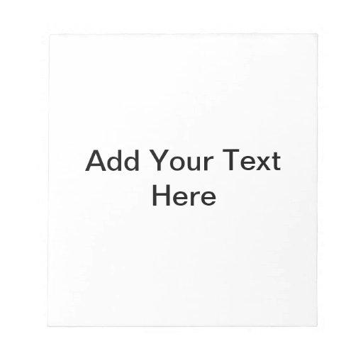 Plantilla adaptable de la libreta del recordatorio bloc