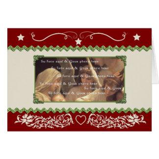 Plantilla adaptable de la tarjeta de Navidad