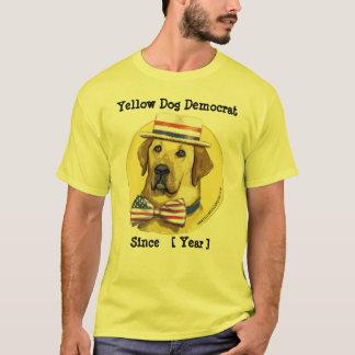 Plantilla adaptable - perro amarillo Demócrata Playera