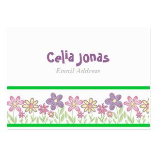 Plantilla adorable de la tarjeta del perfil de los tarjetas de visita