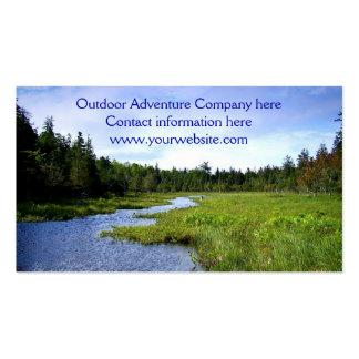 Plantilla al aire libre de la aventura tarjeta personal