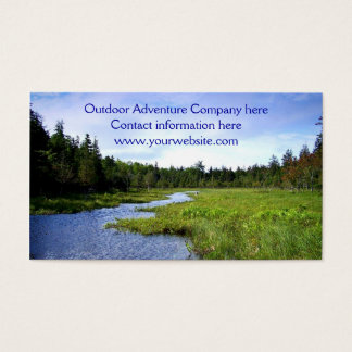 Plantilla al aire libre de la aventura tarjeta de negocios