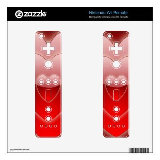 Plantilla alejada de la piel de Wii de los CORAZON Skins Para Mandos De Wii
