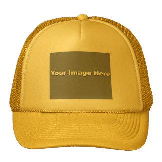 Plantilla amarilla/amarilla del gorra del camioner