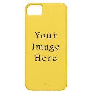 Plantilla amarilla brillante de la tendencia del c iPhone 5 carcasas