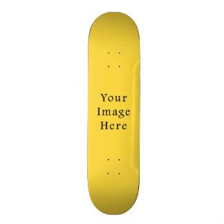 Plantilla amarilla brillante de la tendencia del c patineta personalizada