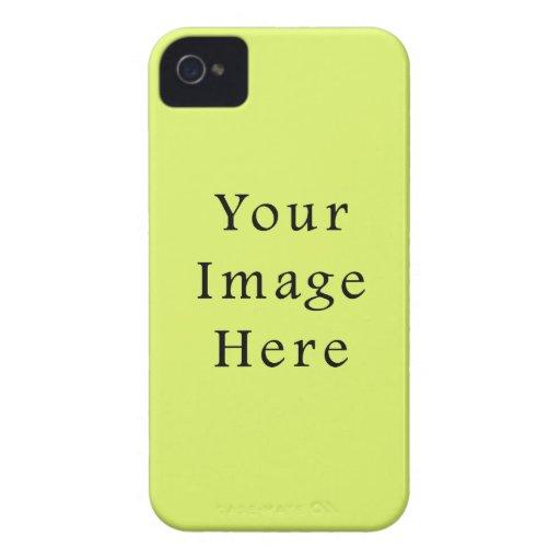Plantilla amarilla del espacio en blanco de la ten iPhone 4 Case-Mate coberturas
