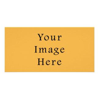 Plantilla amarilla del espacio en blanco de la ten tarjetas fotográficas