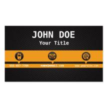 Plantilla amarilla profesional de la tarjeta de tarjetas de visita