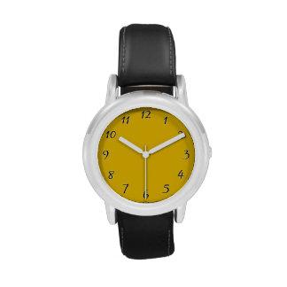 Plantilla amarilla reloj