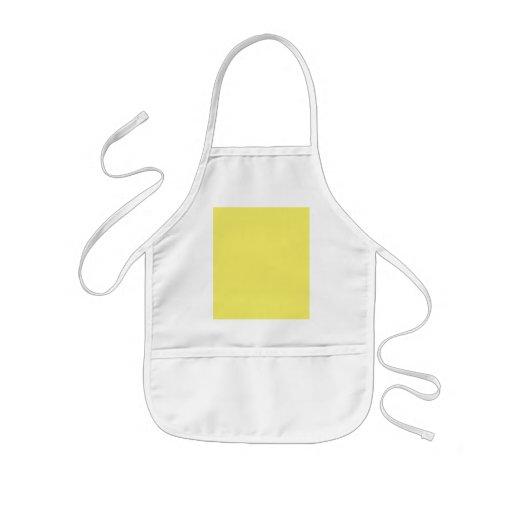 Plantilla amarilla sólida del color de fondo delantal infantil
