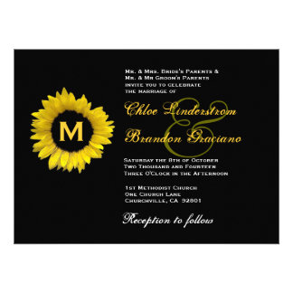 Plantilla amarilla y negra brillante del boda del anuncio