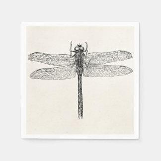 Plantilla americana de la mosca del dragón de la servilleta de papel