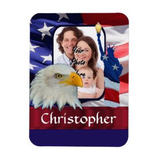 Plantilla americana patriótica de la foto del icon imán flexible
