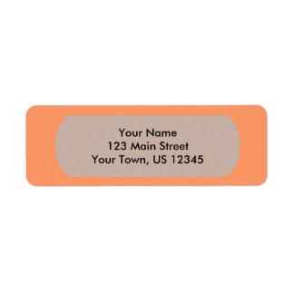 Plantilla anaranjada de la mandarina atómica a etiqueta de remite