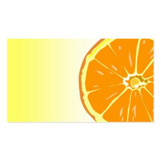Plantilla anaranjada de la tarjeta de visita de la