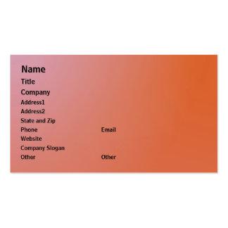 Plantilla anaranjada de la tarjeta de visita de Sh