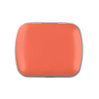 Plantilla anaranjada del espacio en blanco de la t frascos de caramelos