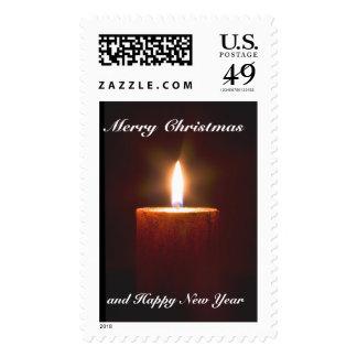 Plantilla anaranjada del sello del navidad de la