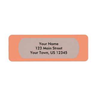 Plantilla anaranjada rosada del cantalupo a etiquetas de remite