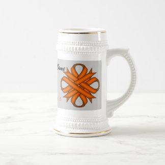 Plantilla anaranjada Stein de la cinta del trébol Jarra De Cerveza