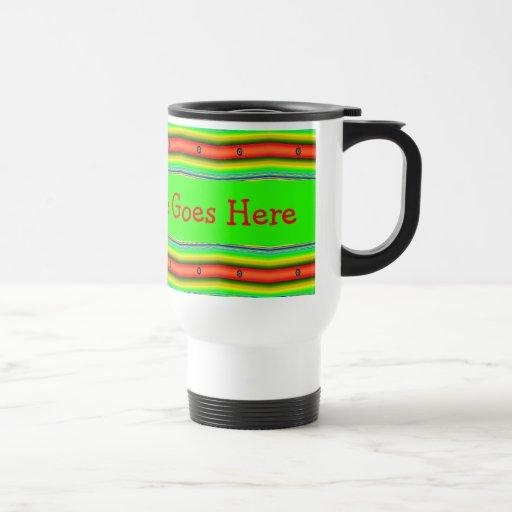 plantilla anaranjada verde clara taza de café
