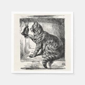 Plantilla animal del ejemplo de Bell del gato del Servilleta Desechable