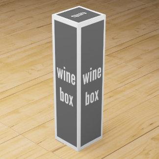 Plantilla apta de la vertical de la caja de regalo cajas de vino