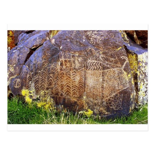 Plantilla arcaica del arte de la roca postales