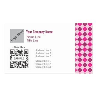 Plantilla Argyle rosado genérico de la tarjeta de