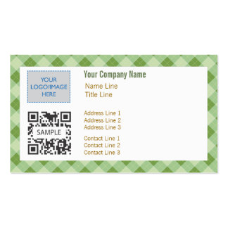 Plantilla Argyle verde genérico 2 de la tarjeta de Tarjetas De Visita