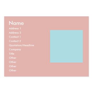 Plantilla armoniosa de la mezcla de la combinación tarjetas de visita grandes