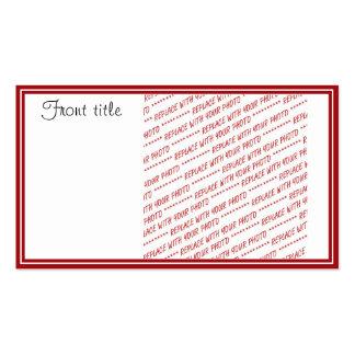 Plantilla arreglada rojo - añada una foto tarjetas de negocios