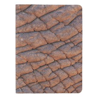 Plantilla arrugada de la textura de la piel del funda para libreta y libreta extra grande moleskin