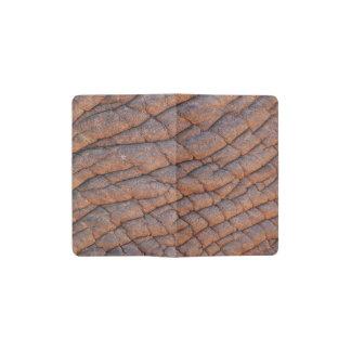 Plantilla arrugada de la textura de la piel del funda para libreta y libreta pequeña moleskine