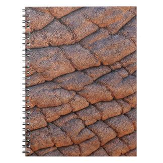 Plantilla arrugada de la textura de la piel del spiral notebooks