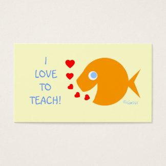 Plantilla auxiliar del Goldfish del profesor Tarjetas De Visita