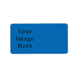 Plantilla azul brillante del espacio en blanco de  etiqueta de dirección