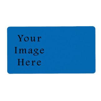 Plantilla azul brillante del espacio en blanco de  etiqueta de envío