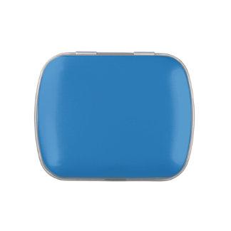 Plantilla azul brillante del espacio en blanco de  jarrones de dulces