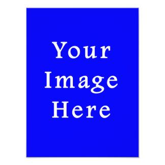 Plantilla azul brillante pura del espacio en blanc impresión fotográfica