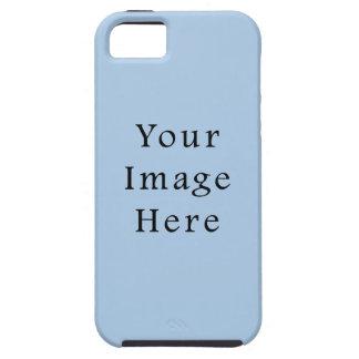Plantilla azul clara apacible del espacio en blanc iPhone 5 cobertura