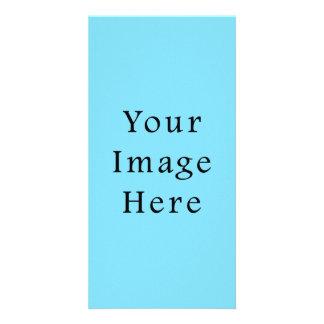 Plantilla azul clara de Jánuca Chanukah Hanukah Tarjetas Fotográficas Personalizadas