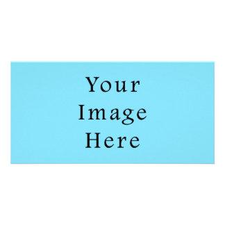 Plantilla azul clara de Jánuca Chanukah Hanukah Tarjetas Fotograficas