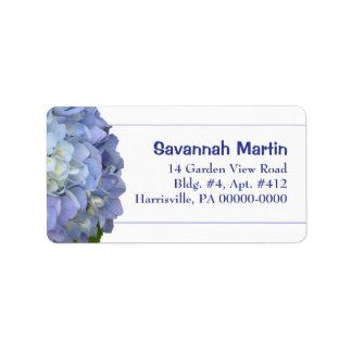 Plantilla azul clara de la etiqueta de dirección d
