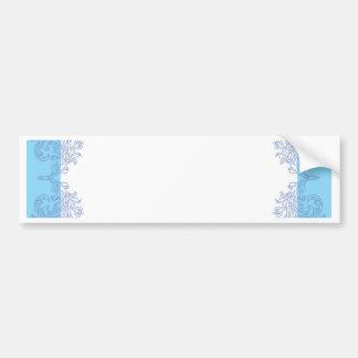 Plantilla azul con clase de la invitación pegatina para auto
