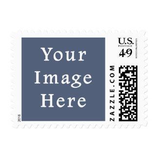 Plantilla azul confederada profunda del espacio en sello