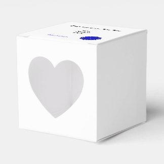 Plantilla azul de la cinta de la flor caja para regalos