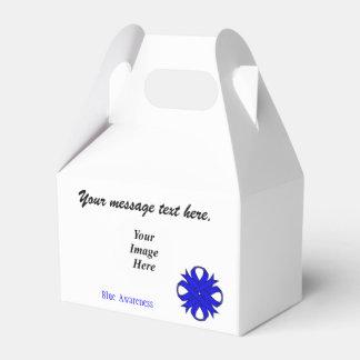 Plantilla azul de la cinta del trébol cajas para detalles de boda