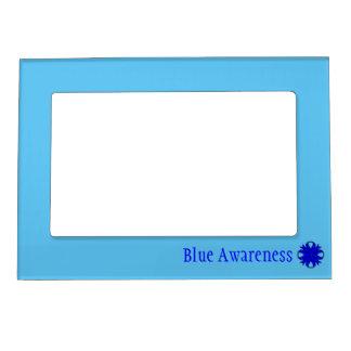 Plantilla azul de la cinta del trébol marcos magnéticos